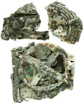 Larger fragments of the Antikythrea Mechanism.