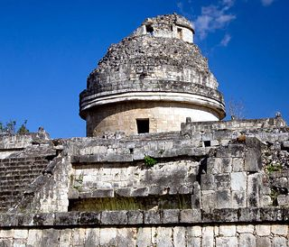 the Mayan Observatory at Chichen Ita in the Yacatan