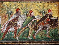 3rd Century Depiction of the 3 Magi. Sarcophgus, Vatican Museum, Rome, Italy
