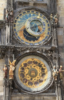 Astrological Clock, Prague. Attribution chatainism, wikipedia commons