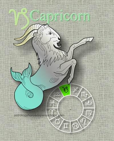 The ancient depiction of Capricorn is the half goat, half fish. Image copyright 2014 Roman Oleh Yaworsky, www.astrologyhoroscopereadings.com
