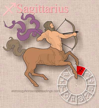 The astrological sign Sagittarius the archer. . Image copyright 2014 Roman Oleh Yaworsky, www.astrologyhoroscopereadings.com