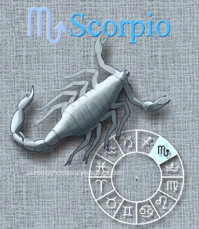 The astrological sign Scorpio. . Image copyright 2014 Roman Oleh Yaworsky, www.astrologyhoroscopereadings.com