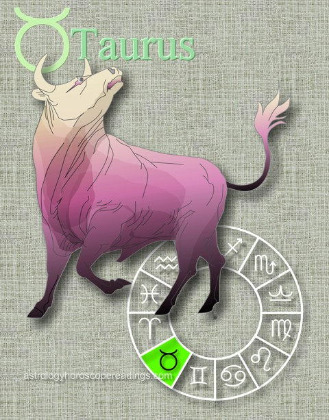 The Taurus Asrology Sign, symbolized by the bull. Image copyright 2014 Roman Oleh Yaworsky, www.astrologyhoroscopereadings.com